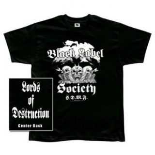 Black Label Society   Mens Lords Of Destruction T shirt Large Black Clothing