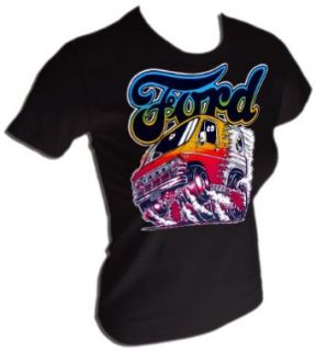 Sexy Vintage Ford Custom Conversion Van ORIGINAL 70s Destroyed T Shirt , x large Clothing