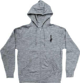 Deathwish Gang Logo Layer Zip Hoodie [Large] Grey Lite Weight Sports & Outdoors