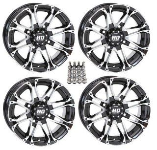 "STI HD3 ATV Wheels/Rims Machined 14"" Polaris Sportsman XP 550 850 (4) Automotive"