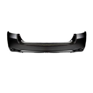 CarPartsDepot 352 441982 20 Pm, Rear Bumper Facial Cover Primed Black Fascia Plastic Automotive