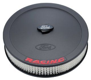 "Proform 302 352 Black Crinkle 13"" Diameter Air Cleaner Kit with Embossed Red Ford Racing Logo and 2 5/8"" Paper Filter Automotive"