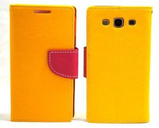 Yellow Hot Pink Two Tone Leather Wallet Pouch Diary + Ooki� Stylus Pen / Features Built in Stand for Samsung Galaxy S3 I9300 4G Android Phone Galaxy SIII GT I9300/ T mobile T999/ AT&T I747/ Verizon I535/ U.S. Cellular R530/ Sprint L710 Cell Phones &am