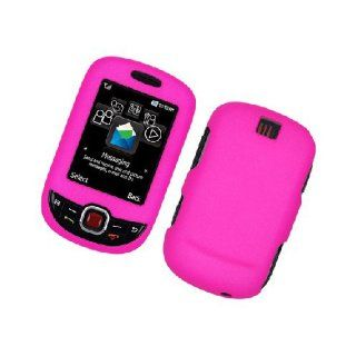 Samsung Smiley ) T359 SGH T359 Hot Pink Hard Cover Case Cell Phones & Accessories