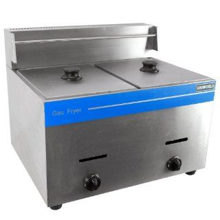 Commercial Dual Basket Deep Fryer Liquid Propane Stainless Steel UGF 72 Kitchen & Dining