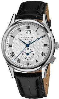 "Stuhrling Prestige Men's 364.33152 ""Prestige"" Stainless Steel Watch with Black Leather Strap Watches"