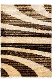 Safavieh Miami Shag Collection SG364 1391 Beige and Multi Shag Area Rug, 4 Feet by 6 Feet   Brown Shag Carpet