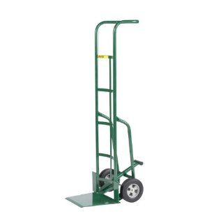 "Little Giant TF 370 8S Tall Hand Truck with Foot Kick and Wheel Guards, 8"" Solid Rubber Tire Wheel, 800 lbs Capacity, 60"" Height"