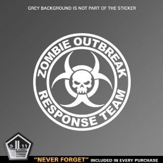 (2x) Zombie Outbreak Response Team   Sticker   Decal   Die Cut Automotive