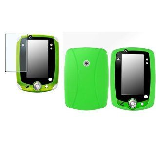 CommonByte Green Rubber Skin Cover Case+Anti Glare Screen Film Guard For LeapFrog Leappad 2 Computers & Accessories