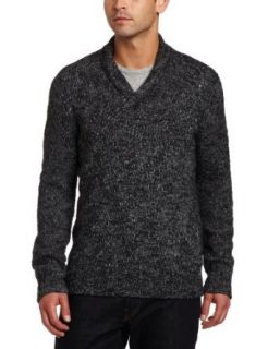 Calvin Klein Sportswear Men's Shawl Collar Alpaca Wool Blend Sweater, Dark Grey Slub, Small Clothing