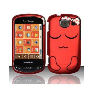 Red Cartoon Bow Hard Cover Case for Samsung Brightside SCH U380 Cell Phones & Accessories