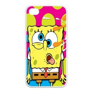 Mystic Zone SpongeBob SquarePants iPhone 4 Case for iPhone 4/4S Cover Famous Cartoon Fits Case KEK1070 Cell Phones & Accessories
