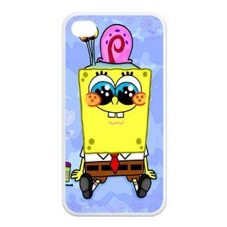 Mystic Zone SpongeBob SquarePants iPhone 4 Case for iPhone 4/4S Cover Famous Cartoon Fits Case KEK1069 Cell Phones & Accessories