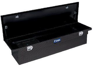 UWS TBS 69 T100 LP BLK Black Single Lid Low Profile Aluminum Toolbox with Beveled Insulated Lid Automotive