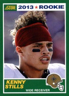 2013 Score NFL Football Trading Card # 386 Kenny Stills Rookie New Orleans Saints Sports Collectibles