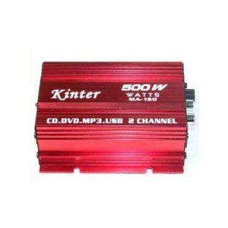Kinter MA 150 Amplifier Digital Stereo Amplifier For Car Motorcycle and Boat (Max Power  40 Watts)  Motorcycle Amps