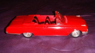 1962 Ford Galaxie Sunliner Convertable, Fire Engine Red, 2 door, 500XL 390 V8, 125 Scale Dealer Coaster/Promo