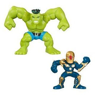 Disney Marvel Super Hero Squad    Hulk and Nova Action Figures Toys & Games