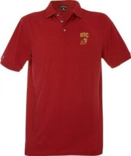 USC Trojans Maroon Classic Pique Stainguard Polo Shirt  Sports Fan Polo Shirts  Sports & Outdoors