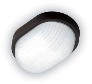 LBL Lighting 5027 Black Contemporary / Modern Single Light Outdoor Oval Fixture   Wall Porch Lights