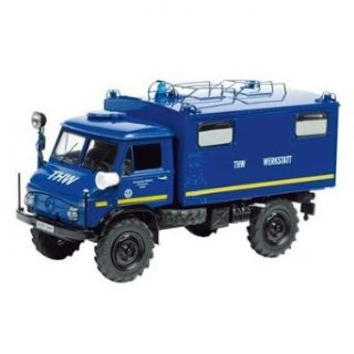 Schuco 143 Mercedes Benz Unimog 404 S THW Communications Truck Toys & Games