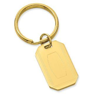 Gold plated with Engravable Area Key Ring   Engravable Personalized Gift Item Jewelry