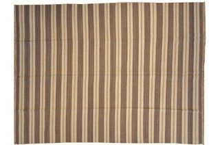 Reversible Striped Durie Kilim Flat Weave Hand Woven 9' X 12' Oriental Rug Sh7049   Hand Knotted Rugs