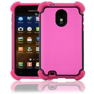 CellJoy Samsung Galaxy S II Case Triple Armor Layered for Epic Touch 4G (SPH D710, SCH R760) (Sprint / Boost / Virgin / US Cellular) Samsung Galaxy S2 [CellJoy Retail Packaging] (Hot Pink & Black) Cell Phones & Accessories