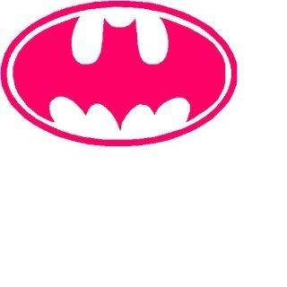 "Batman Logo 6"" HOT PINK Decal Sticker"
