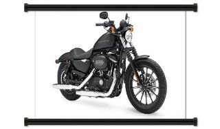 "Harley Davidson Sportster Motorcycle Fabric Wall Scroll Poster (32"" X 20"") Inches   Prints"