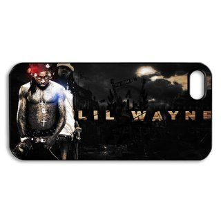 Design 5 Rap King Lil Wayne Print Black Case With Hard Shell Cover for Apple iPhone 5 Cell Phones & Accessories