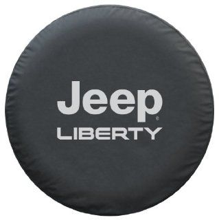 Jeep Liberty Spare Tire Cover   Premium Black Denim Vinyl Automotive
