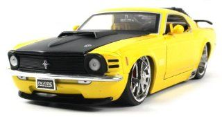 Jada Toys Diecast 124 Licensed 1970 Ford Mustang Boss 429 Car Full Metal 'DUB City' Big Time Muscle Collection, Extremely Detailed Throughout (Yellow) Toys & Games