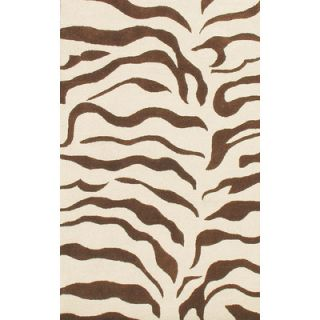 nuLOOM Earth Zebra Print Brown Rug