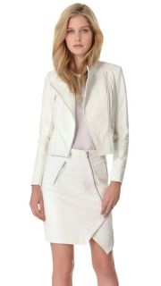 Yigal Azrouel Python Embossed Leather Jacket