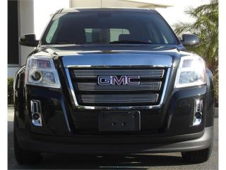 T REX 2010 2012 GMC Terrain Billet Grille Overlay/Bolt On   3 Pc   W/ Logo Opening POLISHED 21154