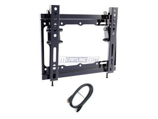 "Loctek 17"" 36"" Tilt Wall Mount Bracket (with HDMI cable) for LED LCD Plasma TV, Max. 44 lb (AVK315)"