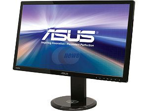 "ASUS VG278HE Black 27"" 2ms (GTG) HDMI Widescreen LED Backlight LCD Monitor 300 cd/m2 50,000,000:1 Built in Speakers 3D ready, Height, Swivel adjustable"