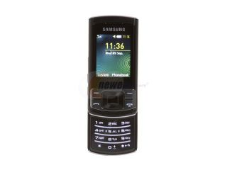 Samsung Stratus C3050 Black Unlocked GSM Slider Phone with Video Camera