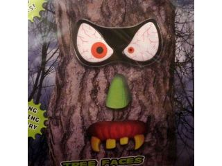 PMG Evil Eyes Tree Faces Spooky Light Up LED Halloween Tree Face Bloodshot