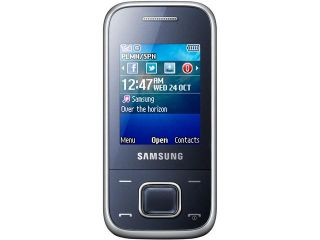 Samsung E2350 Metallic Blue Unlocked GSM Slider Cell Phone