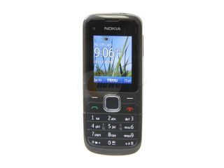 "Nokia C1 01 Midnight Blue Unlocked GSM Bar Phone / Camera / Bluetooth / Music / 1.8"" Display (C1 01)"