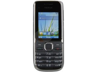 Nokia C2 01 Black 3G Unlocked GSM Bar Phone with 3.2MP Camera