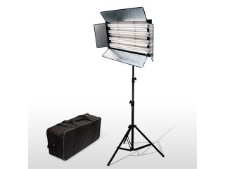 LoadStone Studio 1100 Watt Fluorescent Light Panel + Heavy Duty Air Cushion Spring Studio High Output Light Stand + Convenient Premium Carry Bag