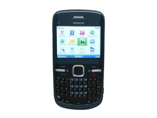 Nokia C3 00 Blue Unlocked GSM Phone w/ Full QWERTY Keyboard / Wi Fi / 2.0 MP Camera / Bluetooth v2.1  (C3 00)