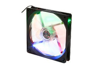 APEVIA  CF14SL B4C  140mm UV multi color  LED fan w/3 pin and 4 pin connectors and black grill