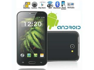 "Unlocked! SVP S580 5"" Dual Core Android Smart Phone w/ Capacitive Bluetooth WiFi Google Play Store+16GB MicroSD"