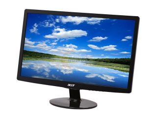 "Acer S202HL bd (L ET.DS2HP.001) Black 20"" 5ms Widescreen LED Backlight LCD Monitor 250 cd/m2 ACM (12,000,000:1) 1,000:1"