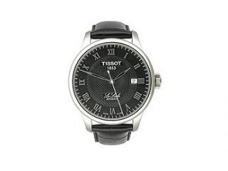 Tissot T Classic Le Locle Leather Strap Black Dial Men's watch #T41.1.423.53